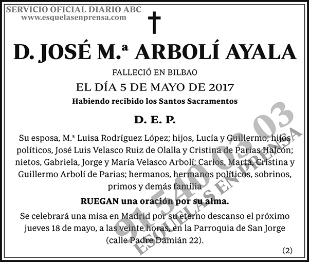 José M.ª Arbolí Ayala
